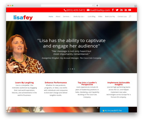 Divi WordPress template for business - lisafey.com