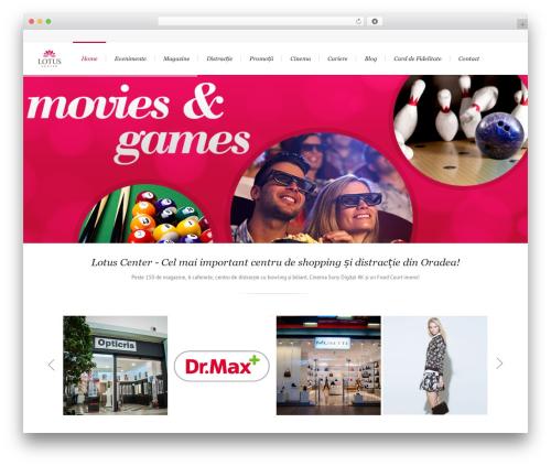 Lounge top WordPress theme - lotus-center.ro