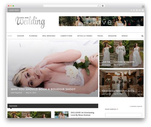 soledad WordPress news theme - loveourweddingmag.com