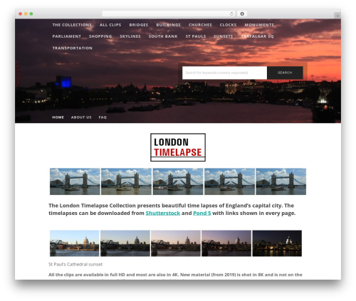 Stock Photography WordPress photo theme - londontimelapse.co.uk