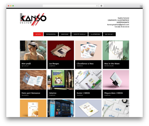 Theme WordPress Vision - kanso-graphiste.com
