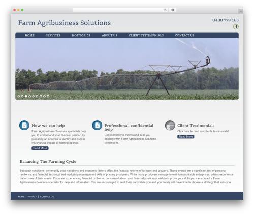 Augustus WordPress template for business - farmagribusinesssolutions.com.au