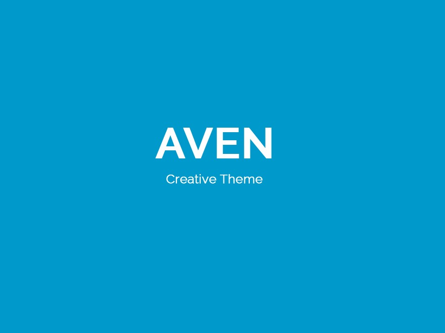 Aven WordPress template for business