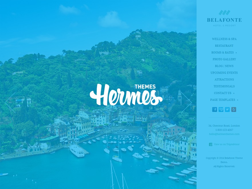 Belafonte best hotel WordPress theme