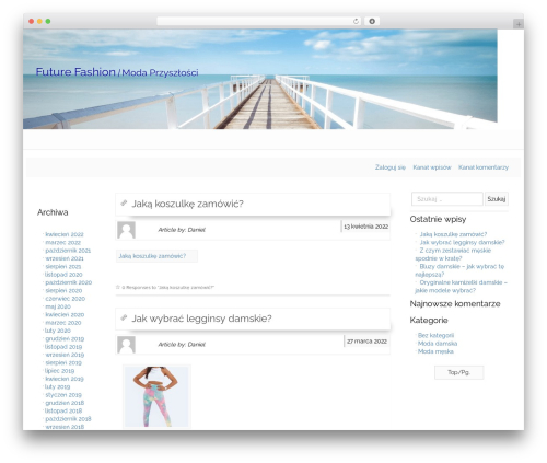 Best WordPress theme Appeal - futurefashion.pl