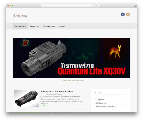 Best WordPress theme Coller - fishingandhunting.pl
