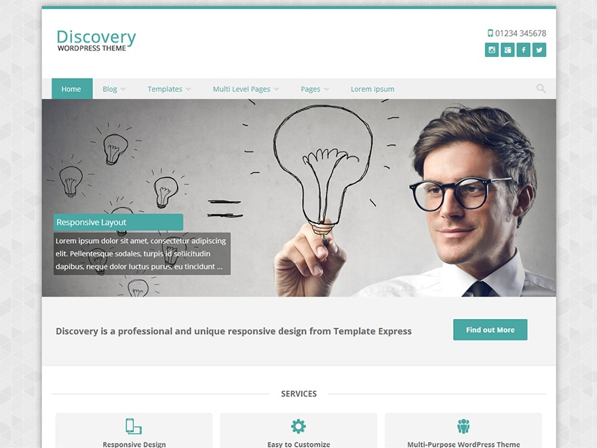 Discovery Child template WordPress