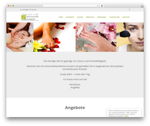 Divi WordPress page template - fuehldichwohlindeinerhaut.at
