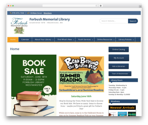 Education Hub WordPress theme download - forbushlibrary.org