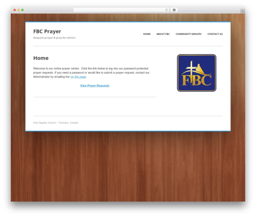 Enterprise Lite theme WordPress free - fbcprayer.ca