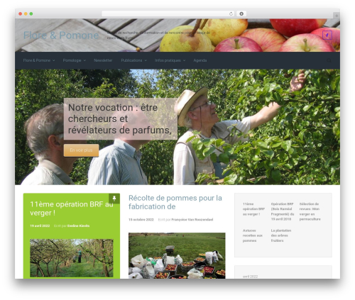 evolve free WordPress theme - floreetpomone.be