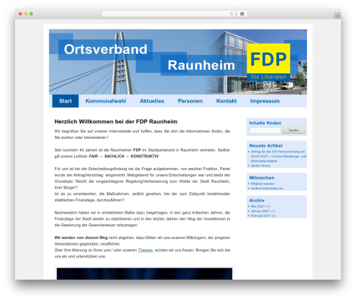FDP WordPress page template - fdp-raunheim.de