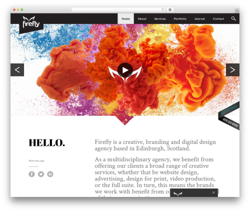FireFly top WordPress theme - firefly-uk.com