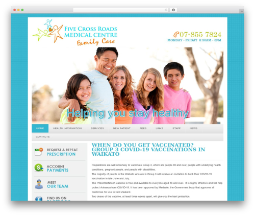 fivecrossmedical. medical WordPress theme - fivexrdsmc.co.nz