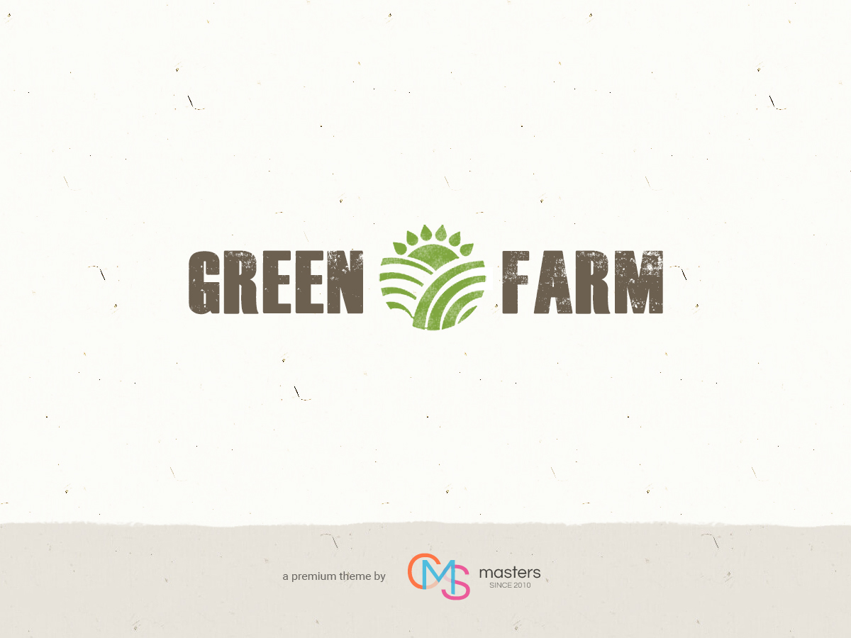 Green Farm WordPress portfolio theme