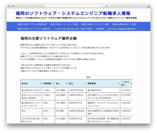 Gush theme WordPress - fukuokasoft.jp