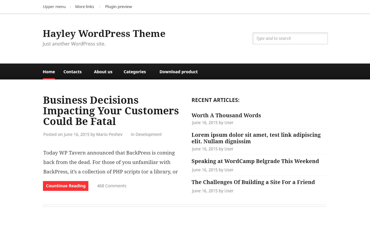 Hayley WordPress theme image