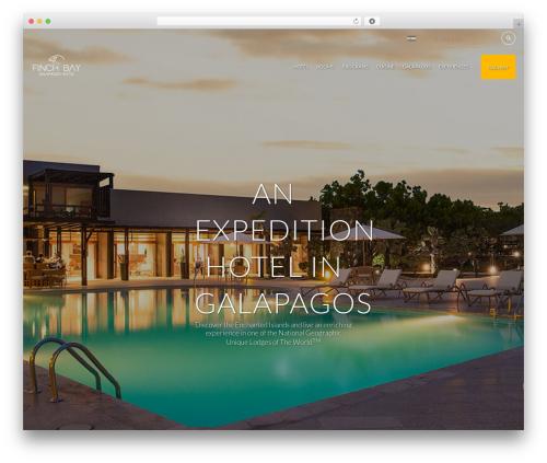 Hotelcalifornia best hotel WordPress theme - finchbaygalapagos.com