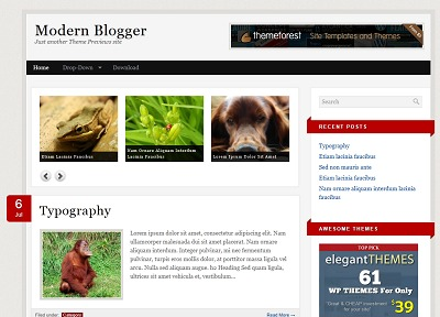 Modern Blogger WordPress Theme WordPress blog template