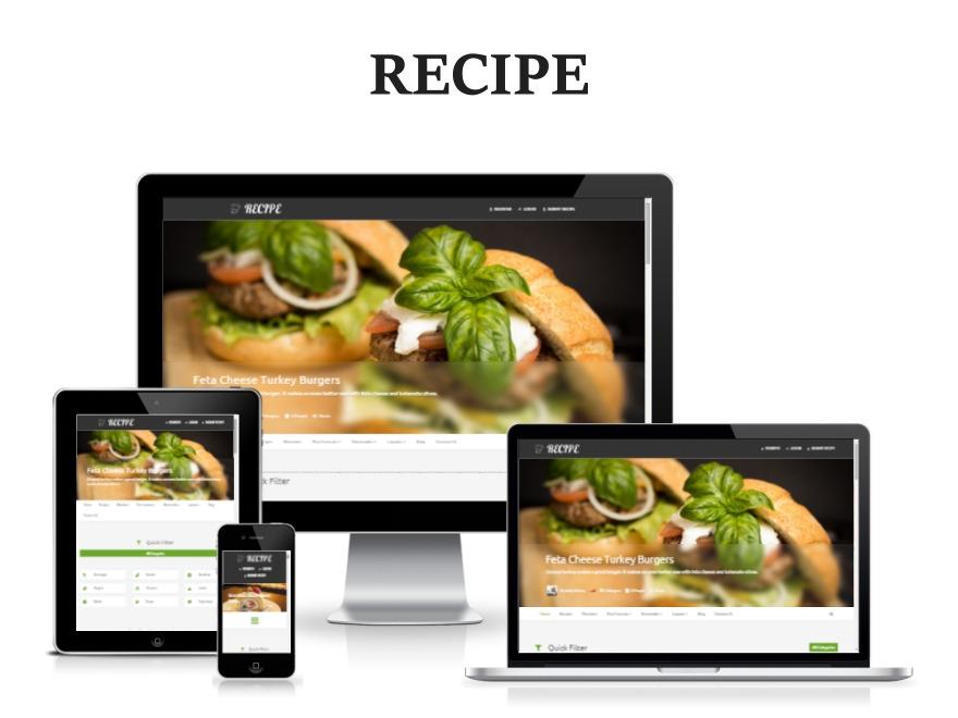 Recipe WordPress website template