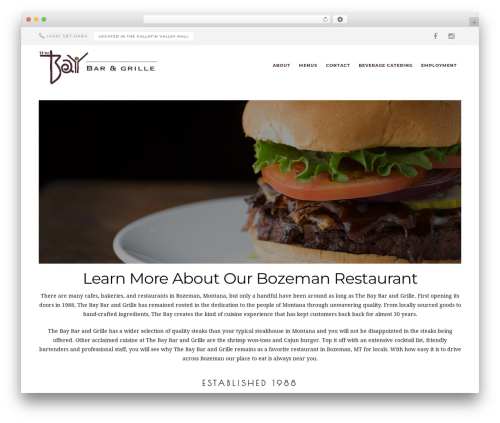 Risotto food WordPress theme - thebaybarandgrille.com