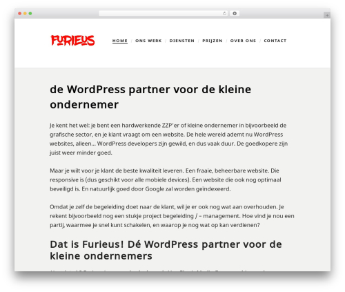 Scripted template WordPress free - furieus.nl