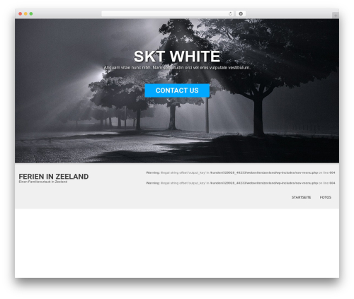 SKT White WordPress page template - ferieninzeeland.de