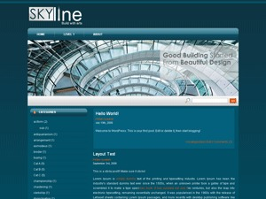 Skyline WordPress theme