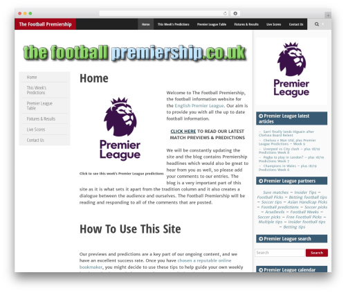SmartAdapt WordPress theme - thefootballpremiership.co.uk