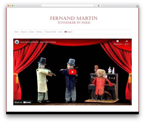 Template WordPress WP-Professional - fernandmartintoys.com