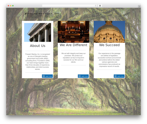 The Firm WordPress page template - fiveashstanley.com