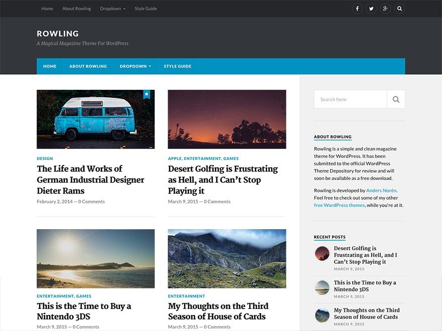 thebeardybaker WordPress theme image