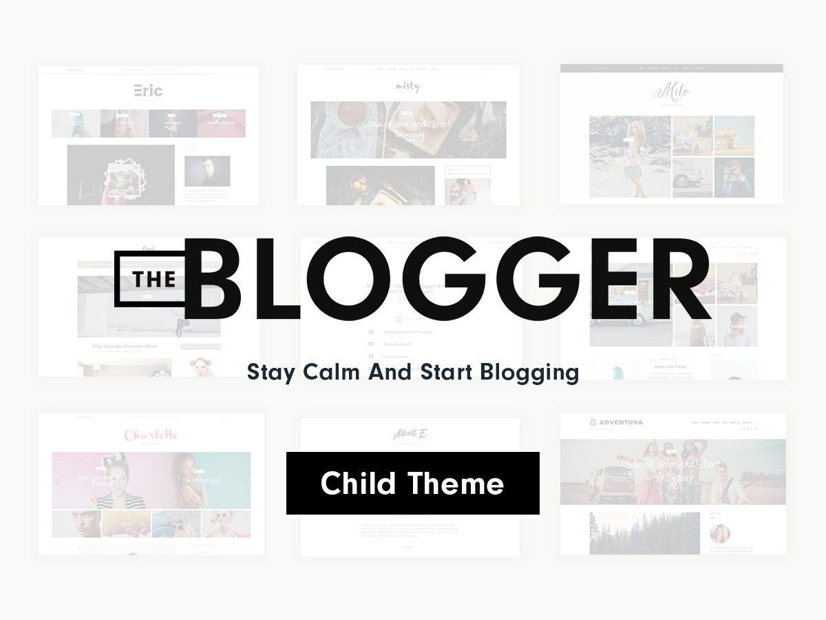 TheBlogger Child WordPress blog template