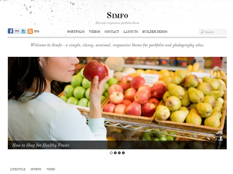Themify Simfo WordPress website template