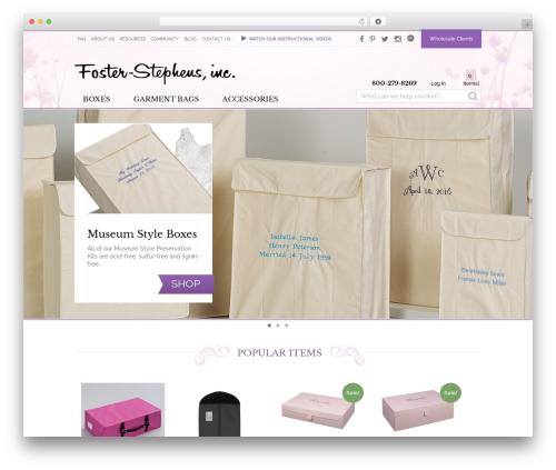 VFS WordPress shop theme - foster-stephens.com