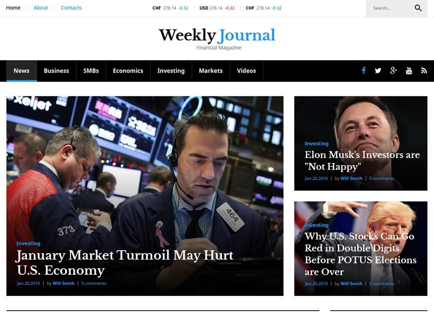 WeeklyJournal WP template
