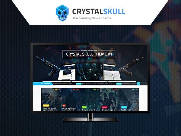 WordPress template CrystalSkull