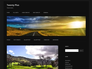 WordPress template Twenty Plus Lite