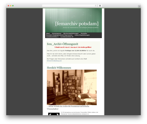 WordPress theme Ambiru - femarchiv-potsdam.de