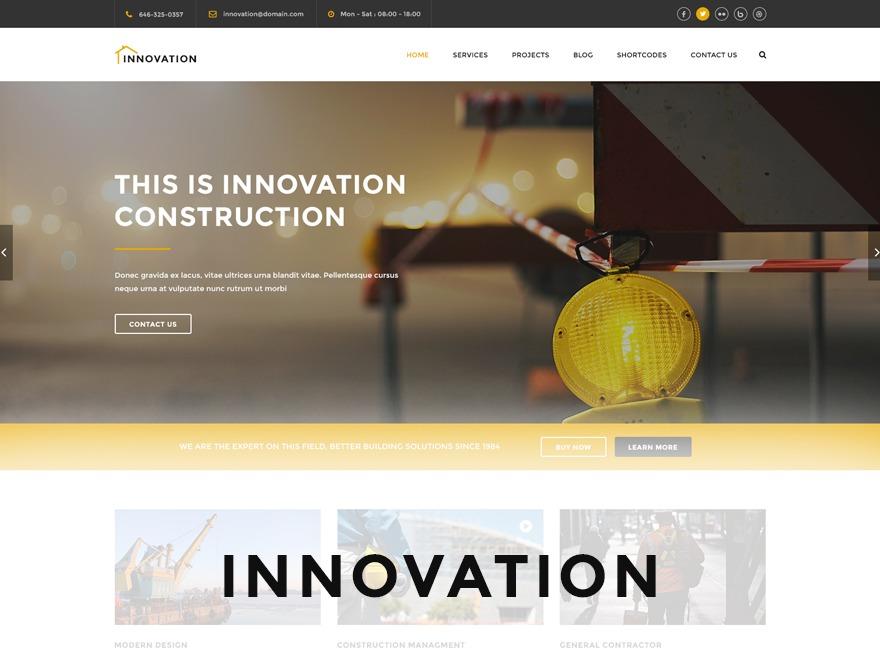 WordPress theme Innovation Child Theme