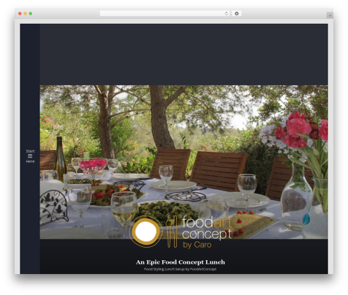 WordPress theme Munich - foodartconcept.com
