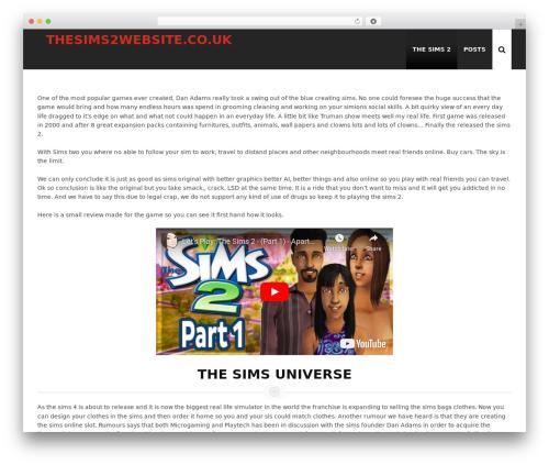 WP Casino Theme WordPress theme design - thesims2website.co.uk