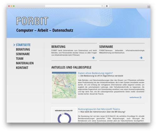 WP template Flint - forbit.de