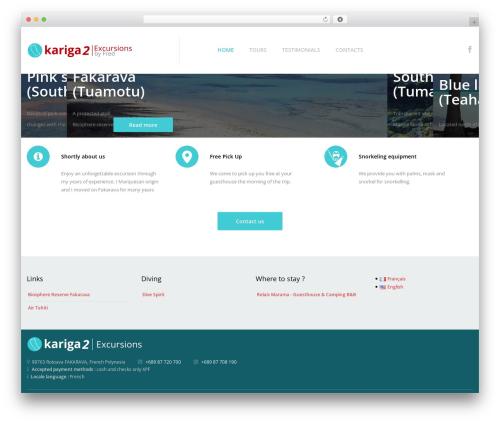 cherry WordPress website template - kariga2excursions.com