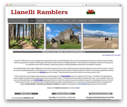 GeneratePress theme WordPress free - llanelliramblers.org.uk