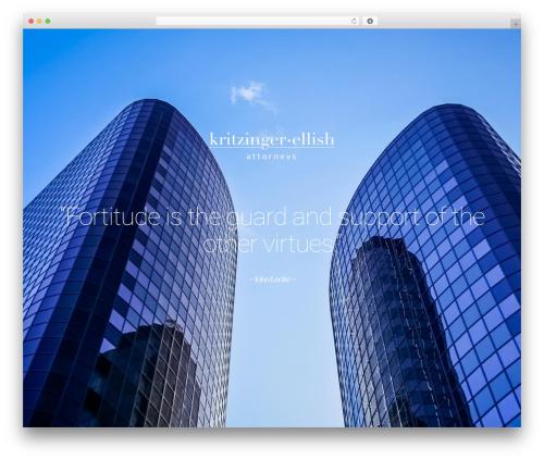 Leafage WordPress website template - keinc.co.za