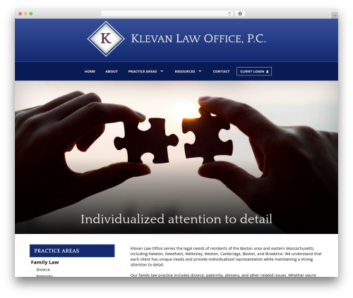 My Case Modern company WordPress theme - klevanlaw.com