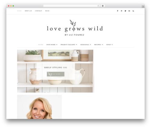 Prima Donna WordPress theme - lovegrowswild.com
