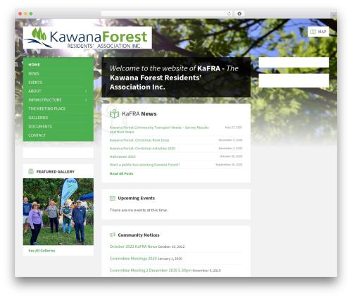 WordPress theme TownPress - kafra.org.au