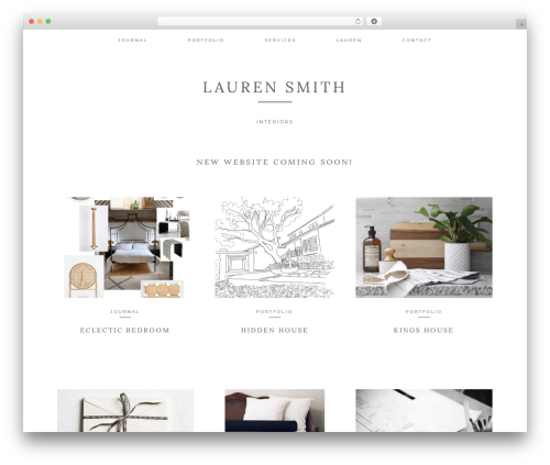 WordPress website template Kindred - laurensmithinteriors.com